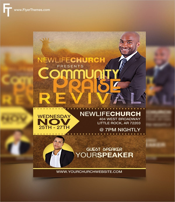 community praise revival flyer