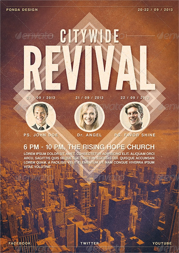 citywide revival flyer