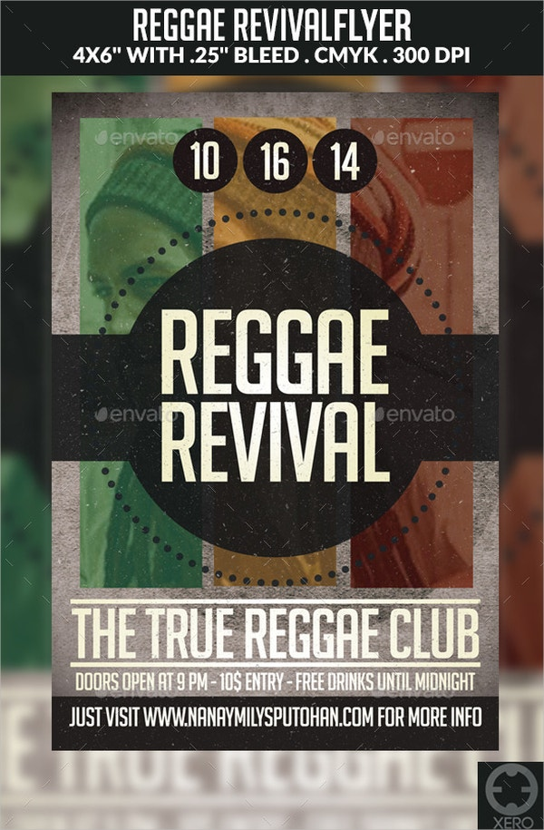 reggae revival flyer