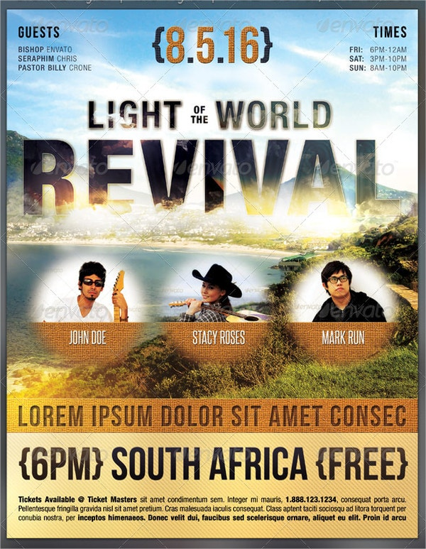 light of the world revival flyer