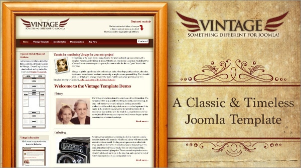 Premium Vintage Joomla Website Template