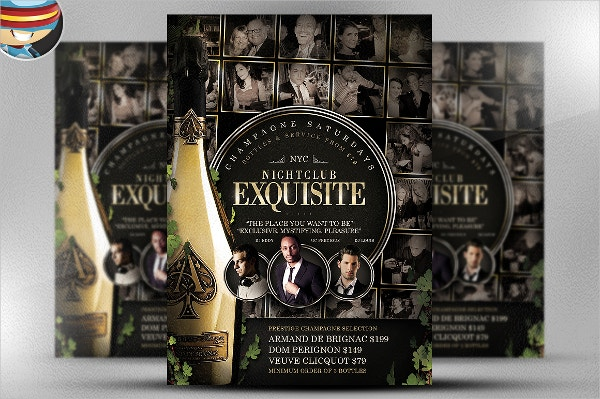 Exquisite Wine Flyer Template