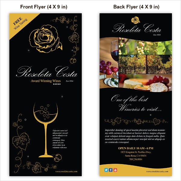 winery template flyer