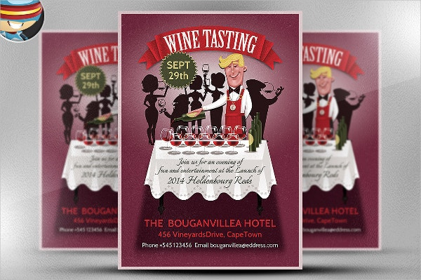 Wine Tasting PSD Flyer Template