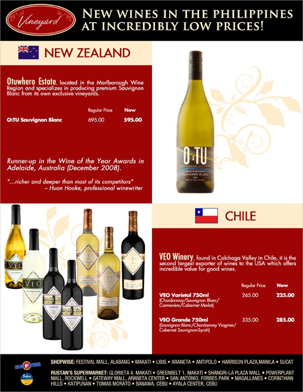 new wine flyer template