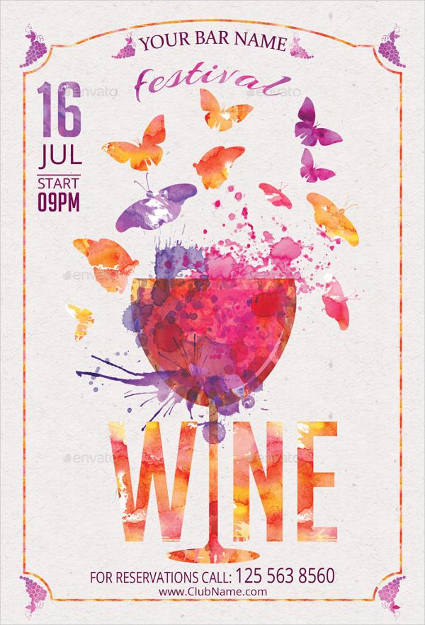 Spring Festival Wine Flyer
