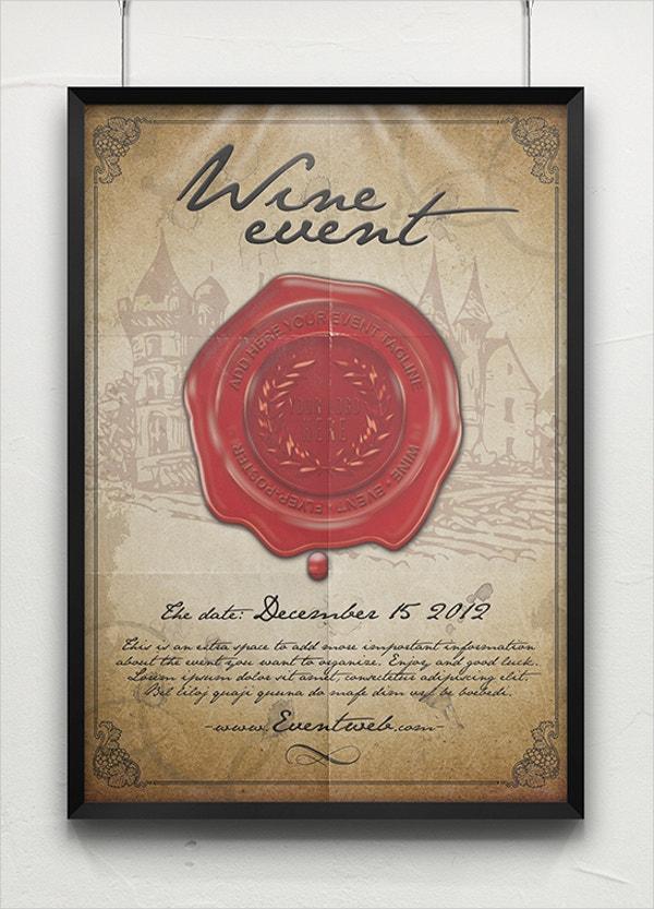 old wine event flyer