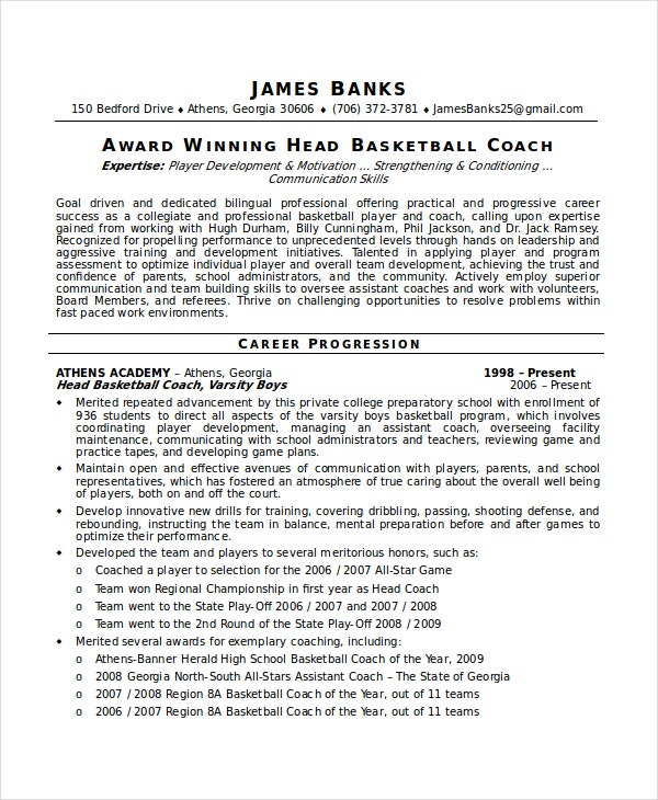 7 Referee Resume Templates