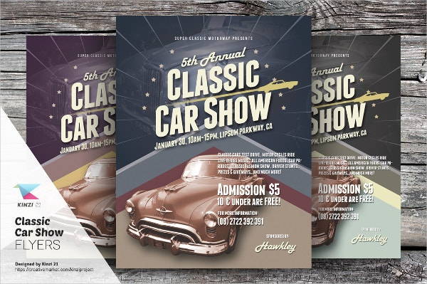 Classic Car Show Exhibition Flyers