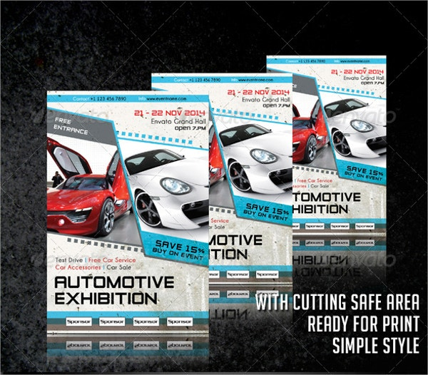 Auto Exhibition Flyer