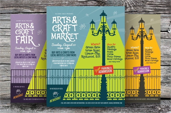 Arts & Craft Fair Flyers