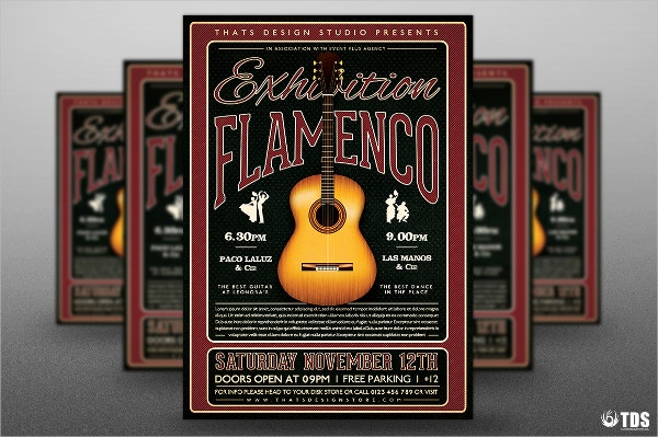 Flamenco Exhibition Flyer