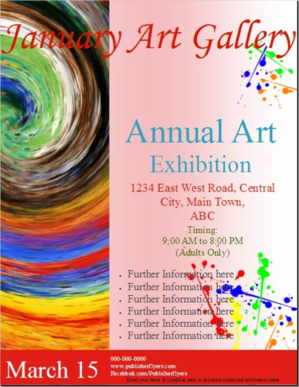 18 exhibition flyers free psd ai eps format download free art gallery exhibition flyer stopboris Choice Image