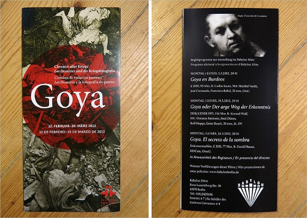 GOYA EXHIBITION FLYER