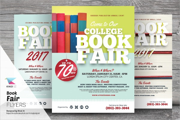 Book Exhibition Fair Flyer