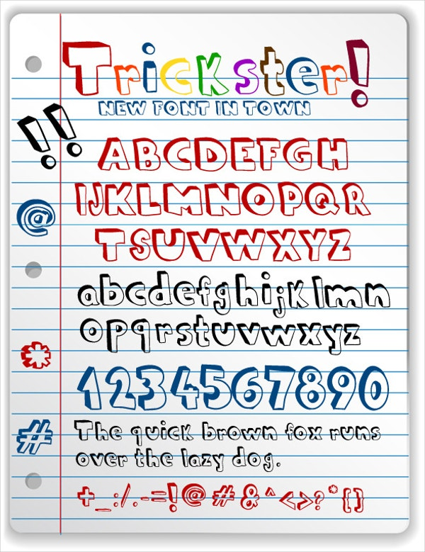 new doodle font