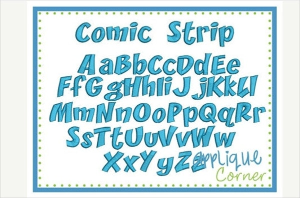 Digital Design Comic Strip Font