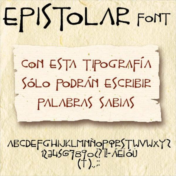 Epistolar Font