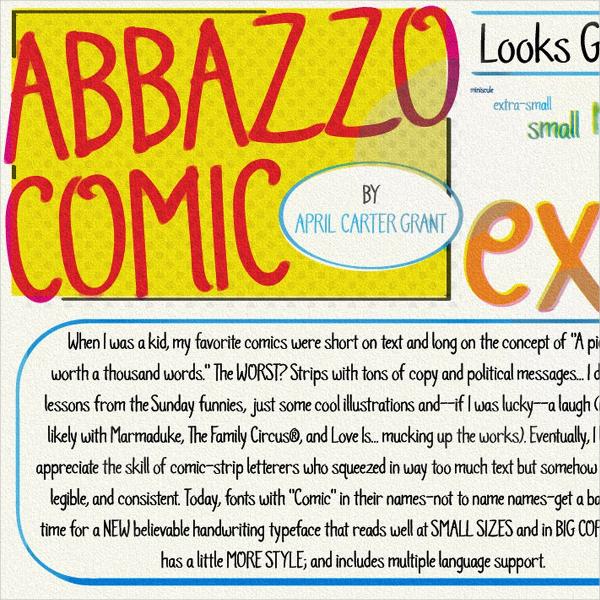 Abbazzo Comic Font