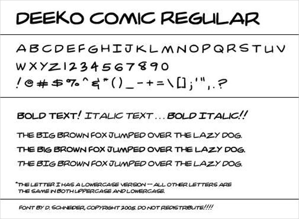 dc comic book style font