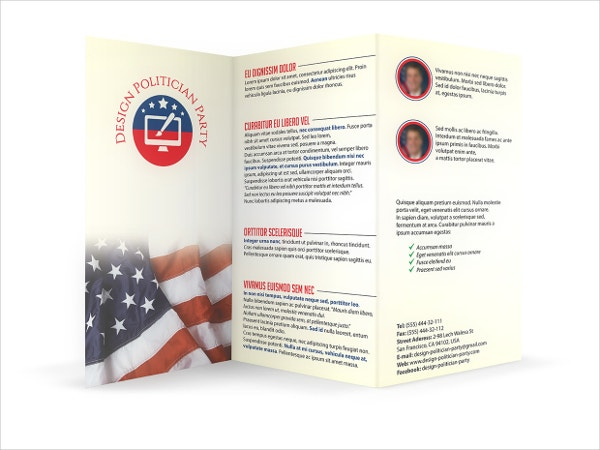 Politician Party Brochure Template