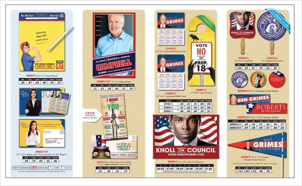 Political Double Parallel Folded Brochure
