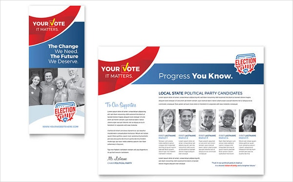 State Political Election Brochure