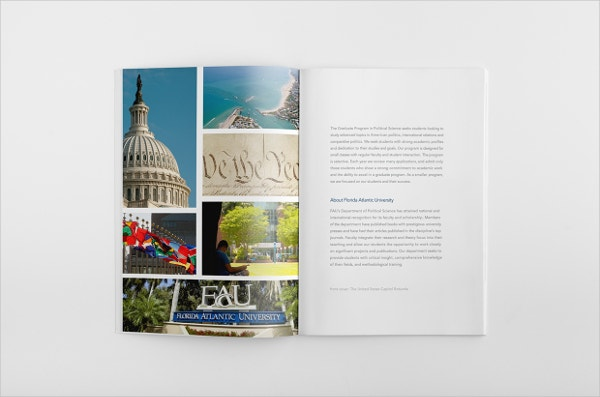 Political Science Masters Degree brochure.