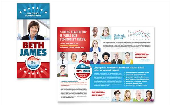 U.S Political Candidate Brochure Template