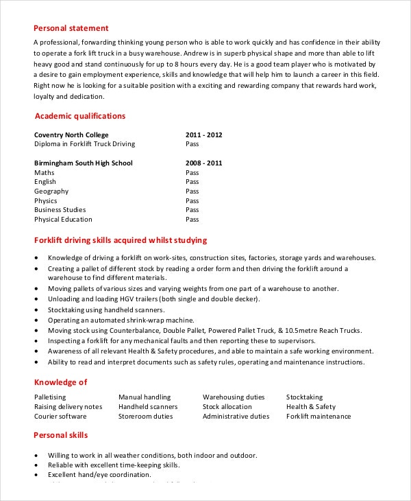 Driving Skills For Resume How To Write A Perfect Truck Driver
