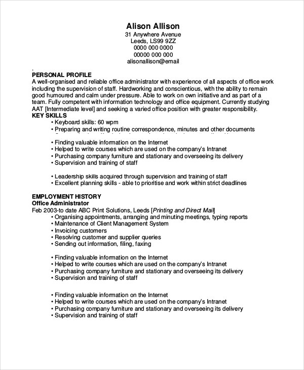warehouse resume sample