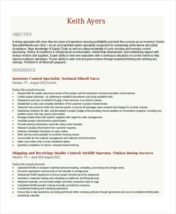 forklift resume template 6 free word pdf document downloads free