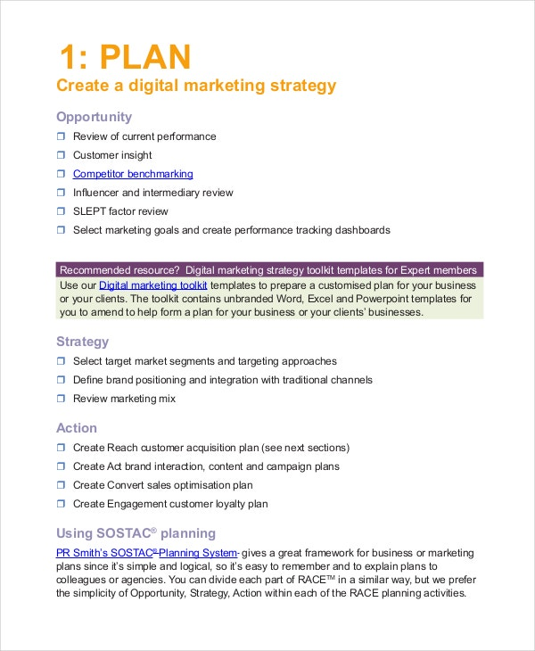 digital marketing campaign planning template - advertising plan template 7 free word excel pdf
