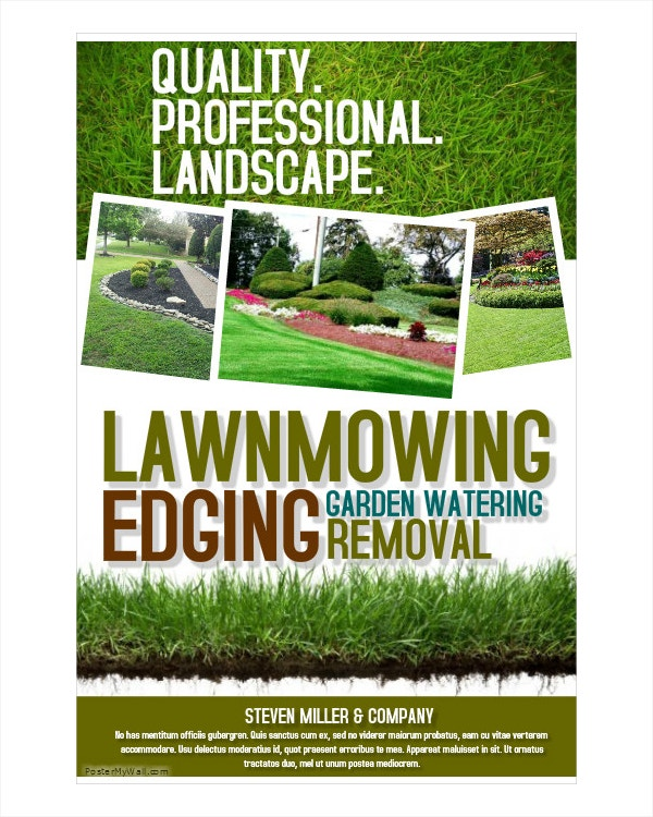 lawn moving landscape flyer