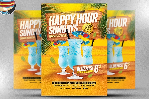 Summer Happy Hour Flyer