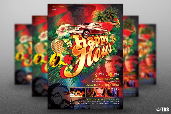 Cuban Happy Hour Flyer