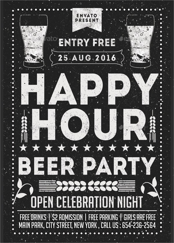 Beer Party Happy Hour Flyer