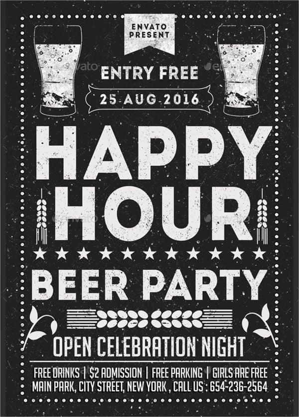 happy hour flyer templates