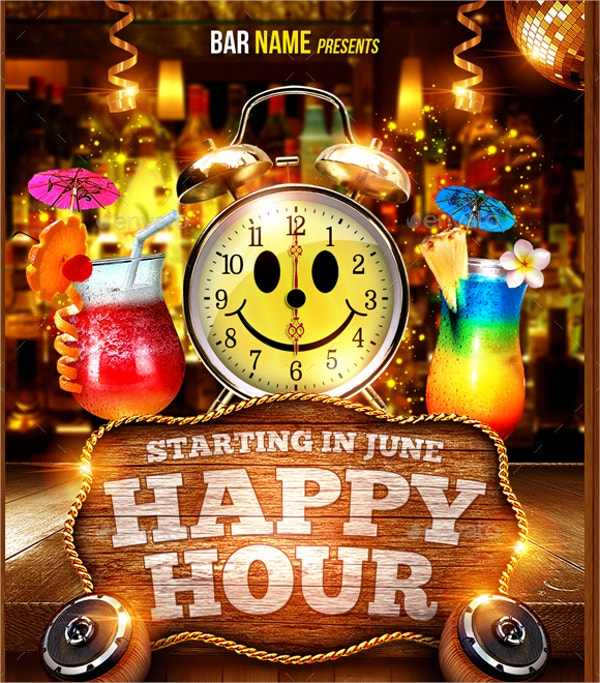 22  happy hour flyer templates