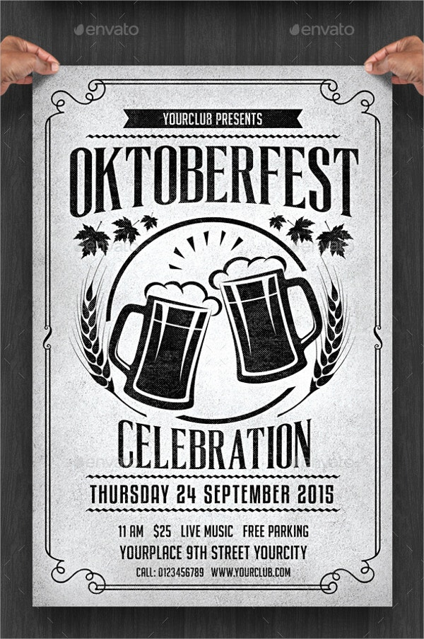 Oktobefest Happy Hour Flyer Template