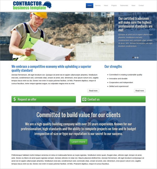 Contractor WordPress Website Theme