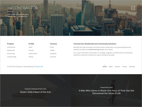 Construction Company & Architecture WordPress Website Theme