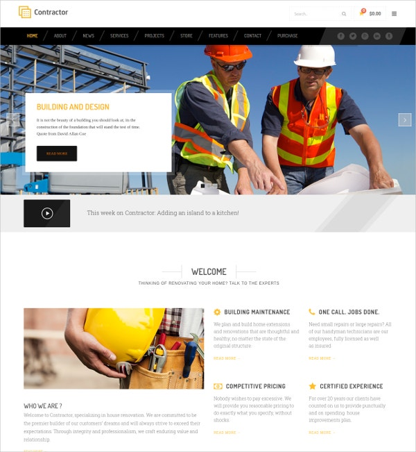 Construction, Building Company WP Website Theme