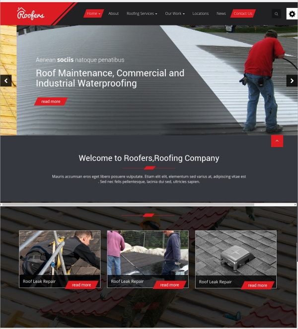 Construction & Contractor HTML Website Template