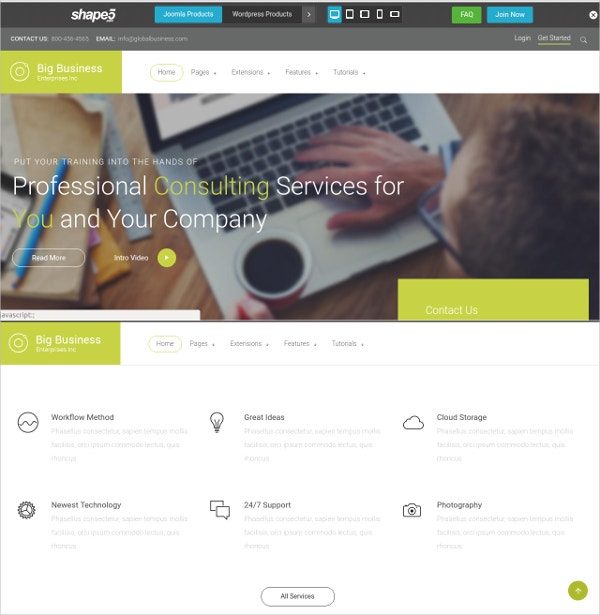 Company Contractor WordPress Website Theme