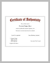 Certificate template 826 free word pdf psd eps format download when you are a memorabilia collector and sells genuine items online then you can apply the certificate of authenticity template that can prove that an item yelopaper Images