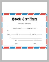 Stock Certificate Template Is Helpful For Any Board Members That Will Be  Given A Document Representing That They Have An Ownership In A Company.  Certificate Of Ownership Template