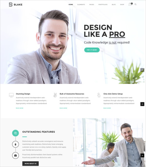 Corporate MultiPurpose WordPress Theme $59