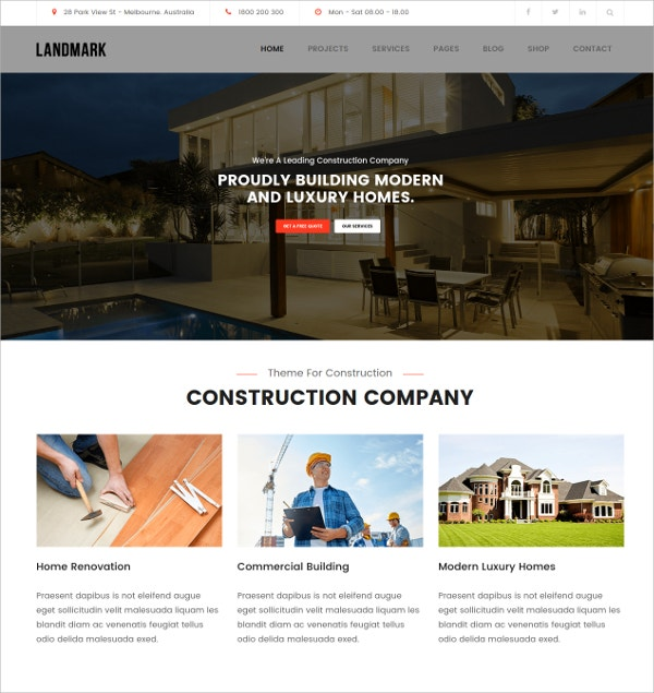 Construction WordPress Theme $59