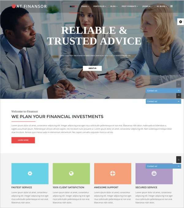 Financial & Corporate Joomla Template $29